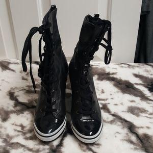 NEW. Jessica Simpson Black White Sport Boots 8.5
